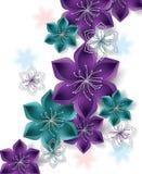 Fond coloré de vecteur avec de grandes fleurs abstraites Images stock