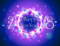 Fond coloré de vecteur de la bonne année 2018 Images libres de droits
