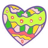 Fond coloré drôle de coeur. Images libres de droits
