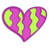 Fond coloré drôle de coeur. Images stock