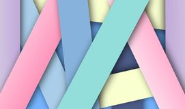 Fond coloré en pastel abstrait, vecteur, illustration, art de papier photographie stock