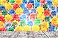 Fond coloré et en bois abstrait de plancher Images stock