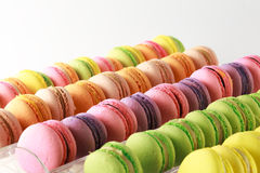Fond coloré français de macarons Photo libre de droits