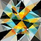 Fond coloré géométrique abstrait Photos stock