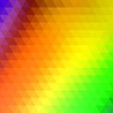 Fond coloré géométrique simple de vecteur d'arc-en-ciel de triangle Image libre de droits