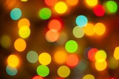 Fond coloré lumineux de bokeh de Noël Images libres de droits