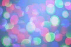 Fond coloré lumineux de bokeh pendant Noël et la nouvelle année Image stock
