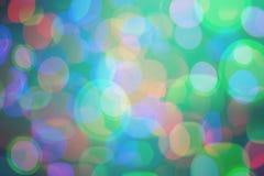 Fond coloré lumineux de bokeh pendant Noël et la nouvelle année Image libre de droits