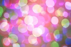 Fond coloré lumineux de bokeh pendant Noël et la nouvelle année Photos stock