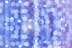 Fond coloré mou de bokeh Guirlandes lumineuses de Li électrique Images stock