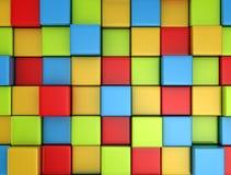 fond coloré multi des cubes 3d illustration libre de droits