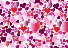 Fond coloré multiple de coeur image stock
