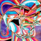 Fond coloré par abstrait Photo stock