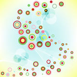 Fond coloré par abstrait avec des cercles. Images libres de droits