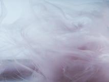 Fond coloré par abstrait Fumée colorée, encre dans l'eau, les modèles de l'univers Mouvement abstrait, congelé Photos libres de droits