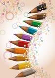 Fond coloré par crayon Image libre de droits