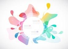 Fond coloré par résumé avec différentes formes Image stock