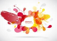 Fond coloré par résumé avec différentes formes Photographie stock libre de droits