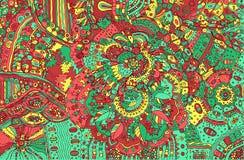 Fond coloré psychédélique de griffonnage Modèle tiré par la main avec illustration libre de droits