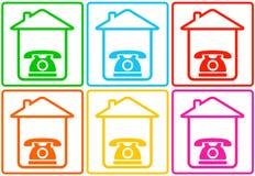 Fond abstrait avec la maison et le téléphone illustration de vecteur