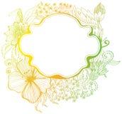 Fond coloré romantique de fleur Images libres de droits