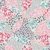 Fond coloré sans couture avec l'ornement abstrait Image stock