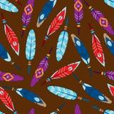 Fond coloré sans couture de plume Photographie stock