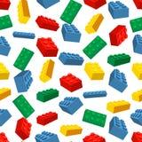 Fond coloré sans couture fait de morceaux de Lego illustration libre de droits