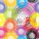 Fond coloré sans joint de sphères Photo stock
