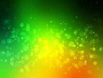 Fond coloré vert abstrait de bokeh festive illustration stock