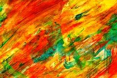 Fond coloré vibrant abstrait peint à la main de mélange de lavage humide de brun bleu de jaune orange beau image libre de droits