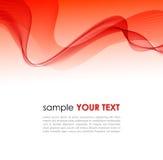 Fond coloré abstrait avec la vague rouge de fumée Photos libres de droits