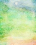 Fond coloré abstrait d'aquarelle Images libres de droits