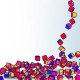 Fond coloré abstrait de la mosaïque 3d. EPS8 Image stock