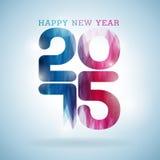 Fond coloré de célébration de la bonne année 2015 de vecteur Image libre de droits