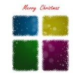 Fond coloré de Joyeux Noël, saison des vacances de fenêtre Photographie stock libre de droits