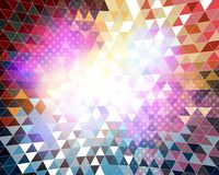 Fond coloré de mosaïque Image libre de droits