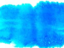 Fond color? de vecteur Tache bleue molle d'aquarelle Peinture de couleur d'aquarelle illustration libre de droits