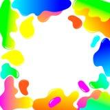 Fond color? par abstrait Formes liquides de couleur Vecteur illustration stock