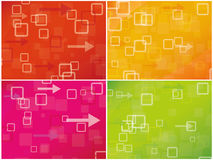 Fond combiné coloré abstrait Photographie stock
