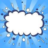 Fond comique bleu de style illustration de vecteur