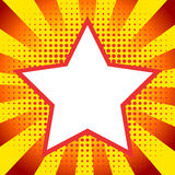 Fond comique d'étoile de style illustration libre de droits
