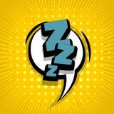 Fond comique Zzz des textes Photographie stock libre de droits