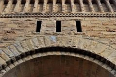 Fond, comme maçonnerie sous forme de voûte décorative Photographie stock libre de droits