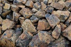 Fond comme pile des pierres brûlées Photo libre de droits