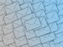 Fond complètement des enveloppes Photo stock