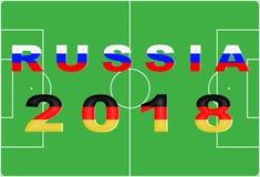 Fond conceptuel de la Russie 2018 Photos libres de droits