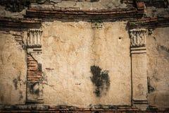 Fond concret étiré de mur de vintage, vieux murs Image libre de droits