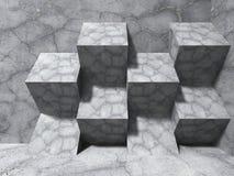Fond concret abstrait d'architecture Cube la conception moderne c Photographie stock