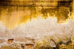 Fond concret criqué de mur de cru, vieux mur Image libre de droits
